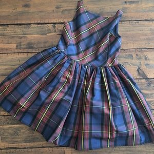 Ralph Lauren plaid party holiday dress